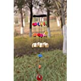 PARADIGM PICTURES Metal & Wooden Fengshui 5 Bell Windchime for Home Decor Gift Positivity (Multicolour)