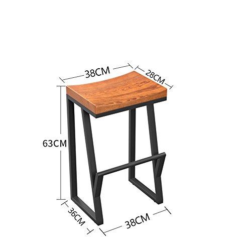 DEO Bureau d'ordinateur Options de différentes hauteurs de chaise de tabouret de bar en bois massif durable (taille : 63cm)