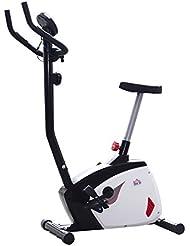 Vélo d'appartement exercice fitnesse magnétique cardio guidon pivotant noir et blanc neuf 74