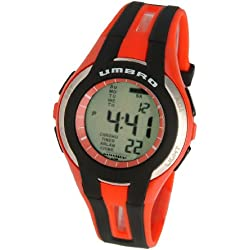 Umbro U553R Gents Watch Quartz Analogue and Digital Grey Dial Red Plastic Strap