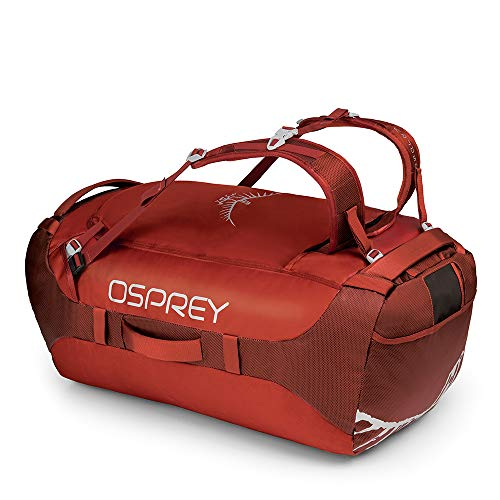 8880b8674 Osprey Transporter 95 Unisex Durable Duffel Travel Pack with Harness -  Ruffian Red (O/
