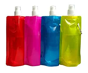 ZeroShop(TM) 3Pcs Eco-friendly Collapsible ca.0.5 Litres Stand Up Water Bottle Anti-Bottle (Colors Vary)