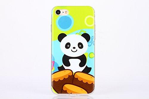 Etsue Doux Protecteur Coque pour iPhone 6 Plus,6S Plus,TPU Matériau Frame est Transparent Soft Cover pour iPhone 6 Plus,6S Plus,Coloré Motif par Dessin de Mode Case Coque pour iPhone 6 Plus,6S Plus +  Panda Cartoon