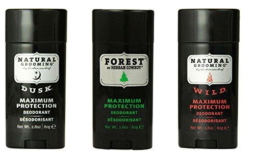 Herban Cowboy Herban Cowboy Deodorant Maximum Protection, 2.8 Ounce Variety Pack