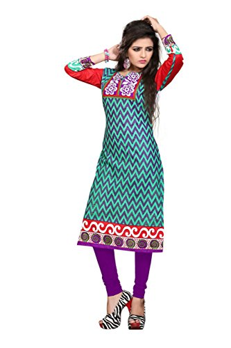 Nakoda Women's Cotton Self Print Unstitched Kurti  available at amazon for Rs.149