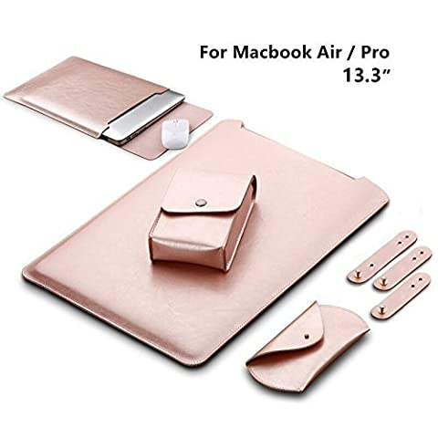 GENORTH® Weiche Hülle Leder Tasche für MacBook Air &Macbook Pro
