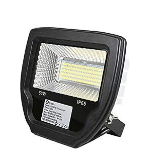Anten LED Außenstrahler Set Fluter, 50W 230V, 4000lumens, Kaltweiß-Tageslichtweiß-6000K, IP65, Schwarz