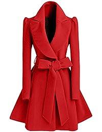 8e232078d2ad 5 ALL Damen Frauen Mantel Elegant Winter Schlack Revers Verdicke Warm Wollmantel  Mantel Kleid Wintermantel Dufflecoat Mantel Jacke…