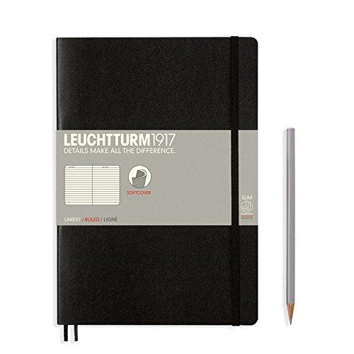 Leuchtturm 1917Notebook A5Notizbuch Medium Paperback Zeilen schwarz 3082907061 (Perforierte Linie Papier)