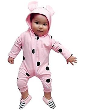 Baby Mädchen Jungen Kapuze Cartoon Strampler Neugeborenen Baby Dot Ear Hoodie Reißverschluss Strampler Overall...
