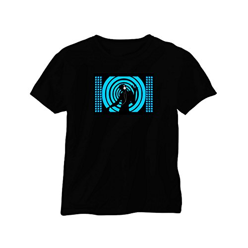 Camiseta Musical & luminoso con LEDs FM-145talla M
