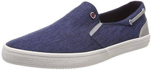 bugatti Herren 321719606900 Slip On Sneaker, Blau (Dark Blue 4100), 43 EU Herren Schuhe Slip-ons