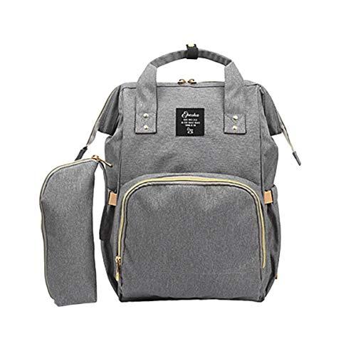 2 Set Wickeltasche Baby Rucksack, Große Kapazität Baby Care Multifunktionale Mama Rucksack, Beste Tasche für Mädchen oder Jungen, Mutter oder Vater (Grau)