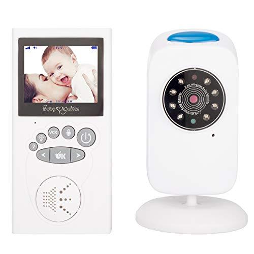 XGLL Monitor Digitale Wireless per Bambini a 2,4 Pollici, Talk Back a Due Vie, Timer, Regolazione Automatica della luminosità, ninne nanne, Multi-Lingua