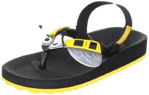 flip*flop bumblebee, Unisex-Kinder Zehentrenner, Mehrfarbig (041 black/yellow), 27 EU