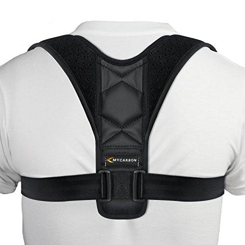 MYCARBON Haltungskorrektur Geradehalter Schulter Rücken Haltungsbandage--Bandage zur Haltungskorrektur--verstellbare Größe für Männer und Frauen
