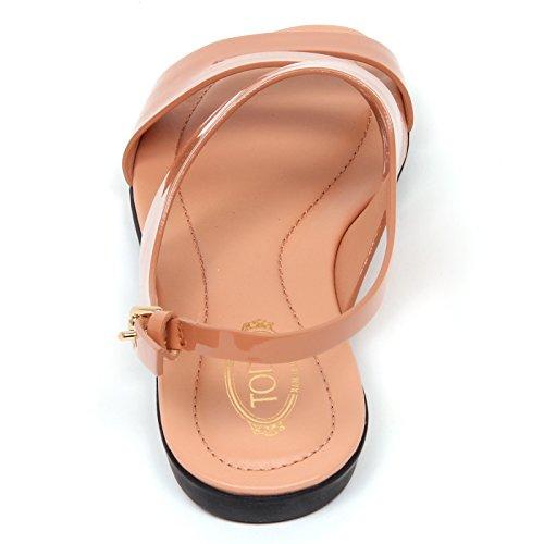 D0492 sandalo basso donna TOD'S scarpa rosa salmone shoe woman rosa salmone