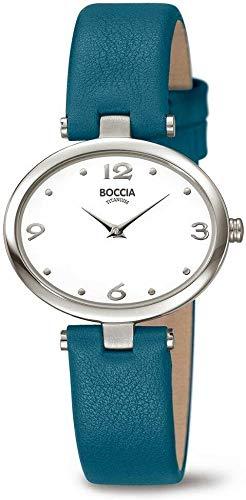 Boccia Damen Analog Quarz Uhr mit Leder Armband 3295-01