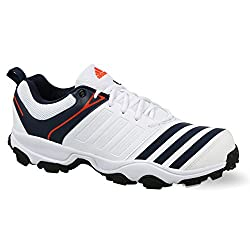 Adidas Mens 22Yards Trainer 17 Ftwwht/Conavy/Energy Cricket Shoes - 8 UK/India (42 EU)
