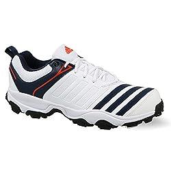Adidas Mens 22Yards Trainer 17 Ftwwht/Conavy/Energy Cricket Shoes - 8 UK/India (42 EU)