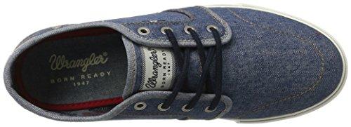 Wrangler Mens Mitos Derby Denim Sneaker Blu (denim)