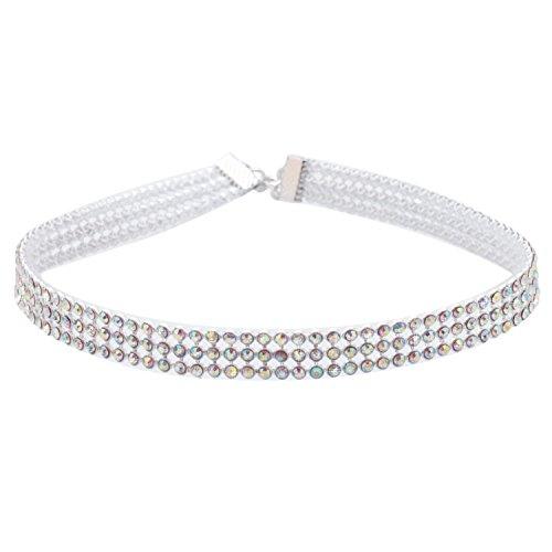 Sasairy-Damen-Elegant-Halskette-Choker-mit-Strass-Halsketten-Punk-Gothic-Halsband-Ketten