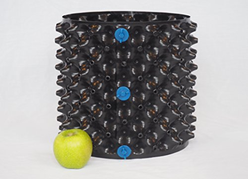 Optigrow 12 litre Air Pot d'élagage, noir, 250mm*250mm - 12 Litre