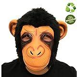 Morbuy Máscara de Cabeza Animal de Látex, Adulto Látex Novedad Interesante Cabeza Máscaras Halloween Cara Fiesta de Disfraces Cosplay (Orangután)