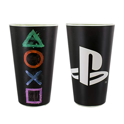 Playstation Vaso Vidrio, 9 x 9 x 15 cm