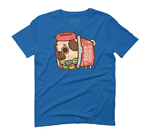 Puglie Poot Loops Men's Graphic T-Shirt - Design By Humans Royal Blue