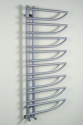 Designer Handtuchheizkörper Badheizkörper 1250 x 550 mm silber von WarmeHaus auf Heizstrahler Onlineshop