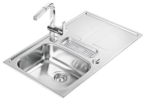 Teka Stena 50B-CN lavandino in acciaio inox lucido da cucina lavandino da incasso lavandino eccentr