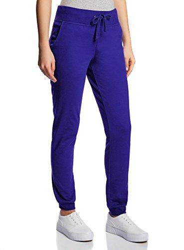 oodji Ultra Damen Jersey-Hose im Sport-Stil, Blau, DE 36 / EU 38 / S