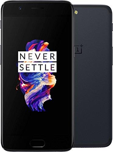 OnePlus 5 Smartphone 64GB Gris (Slate Gray) A5000 [versión de la UE] con el original EU Dash Charger (6GB RAM, Snapdragon 835, Dual Camera) 5,5 pulgadas