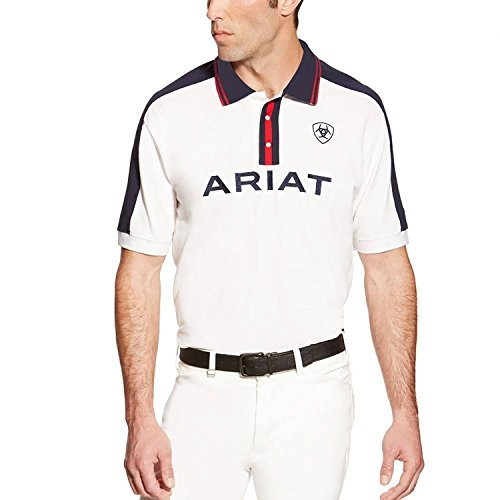 41gmQtC5czL BEST BUY UK #1ARIAT NEW MENS TEAM POLO WHITE L price Reviews uk