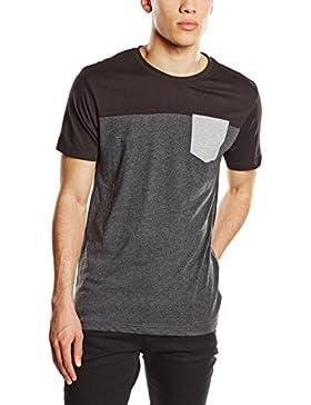 Urban Classics Herren Langarmshirt T-shirt 3-Tone Pocket Tee