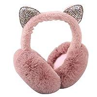 Women Earmuffs Cartoon Cat Ears Design Windproof Warm Adjustable Earmuffs