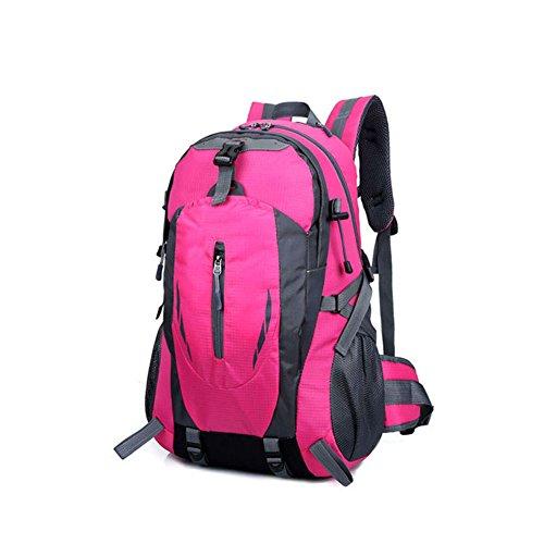 Hrph New Fashion Outdoor Sport Nylon Rucksäcke Frauen MenTravel Rucksack Bergsteigen Wandern Taschen Rose Red