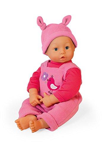 Bayer Design 94677 - Babypuppe Leni mit Schlafaugen, 46 cm, rosa (Molly-design)