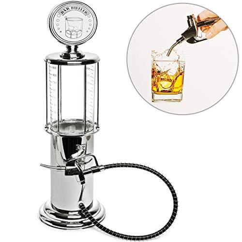 A/v-ständer Glas (alles-meine.de GmbH großer Getränkespender - Zapfsäule - 1 Liter - mit Ständer - Schlauch & Zapfventil - als Zapfhahn & Deckel / Saftkanne / Zapfhahnflasche / Tanksäule / Glas Ha..)