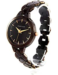 KENNETH KLEIN Quartz Movement Round Analogue Brown Dial Stainless Steel Chocolate Plated Band Women's Watch (KK40L)