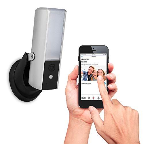 41gmS0Kj4HL [Bon Plan Netatmo] Smartwares Guardian CIP-39901 - Caméra de surveillance connectée avec éclairage intégré, alarme et audio 2 Voies