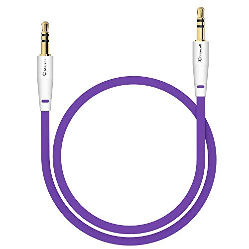 Act Sony Xperia Z5 Compact Anti-Tangle 3,5mm Stereo-Kabel 1 Meter Auxiliary lead Zusatzkabel Klinke-auf-Klinke Buchse zu Buchse Flachkabel Audio-Verlängerungskabel Input von Gadget Lila -