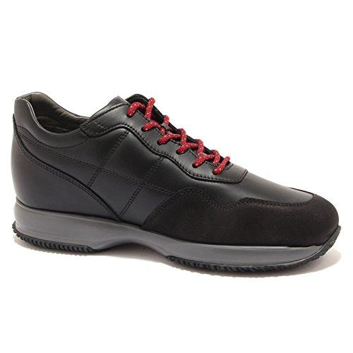 Hogan 6848U sneaker uomo INTERACTIVE H CUCITURA black shoe men Nero