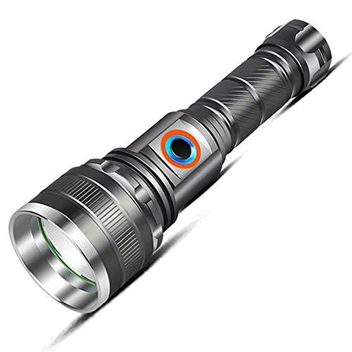 LPZ Taschenlampe Multi Funktion wiederaufladbare Blendung Handheld Outdoor Taschenlampe Wasserdichter und Rutschfester Zoom