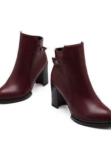 ShangYi Mode Frauen Schuhe Damenschuhe Faux Ferse Schuhe/Stiefel Zehe geschlossen. burgund