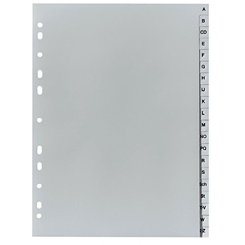Herlitz 10843522 Eintragung A-Z, 21 x 29,7 cm, PP, Eurolochung (Kunststoff-register)