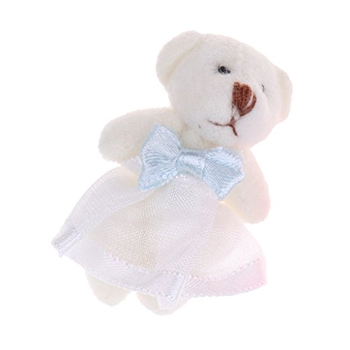 D DOLITY Figurine de Poupée en Peluche Miniature de 1:12 Maison de Poupée Décoration pour Chambre Salon Maison - avec Robe de mariée