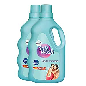 Safewash Liquid Detergent by Wipro, 1kg (Buy 1 Get 1 Free)