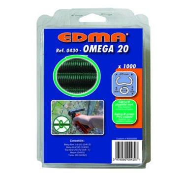 Agrafes Omega 20 galva vert parquet de 1000 43001 EDMA